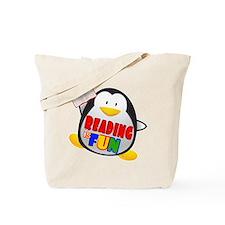 Reading is Fun Penguin Tote Bag
