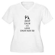Keep Calm and Love Chun Kuk Do Plus Size T-Shirt