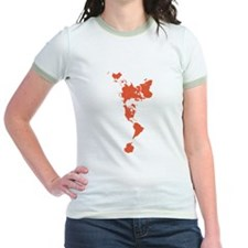 New Perspectives World Map - Red T-Shirt