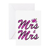 Mrs & Mrs Greeting Cards (Pk of 10)