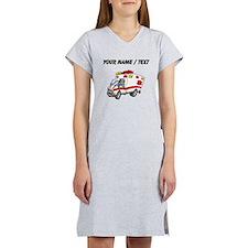 Custom Cartoon Ambulance Women's Nightshirt
