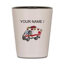 Custom Cartoon Ambulance Shot Glass