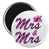 Lesbian wedding 2.25&quot; Round Magnet