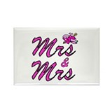 Mrs & Mrs Rectangle Magnet (10 pack)