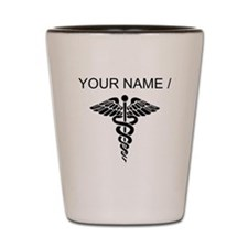 Custom Medical Caduceus Shot Glass