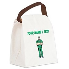 Custom Doctor In Scrubs Canvas Lunch Bag