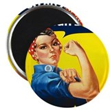 Rosie The Riveter 2.25&quot; Magnet (10 pack)
