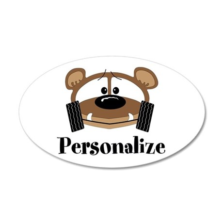 Personalize Buggy Bear 35x21 Oval Wall Decal