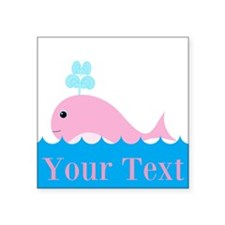 Personalizable Pink Whale Sticker