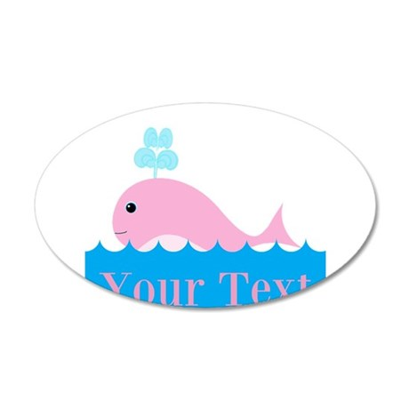 Personalizable Pink Whale Wall Decal