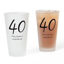 40th Birthday Pint Glass