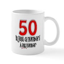 Just A Number 50th Birthday Mug
