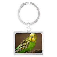Parakeet Landscape Keychain