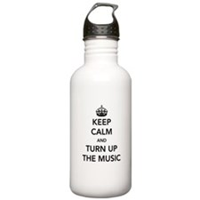 Keep Calm and Turn Up the Music Water Bottle