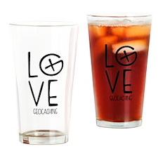 Geocaching Love Drinking Glass