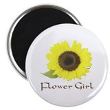 Sunflower Flower Girl Magnet