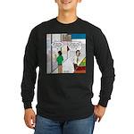 Men Shopping Long Sleeve Dark T-Shirt