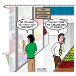 Men Shopping Shower Curtain