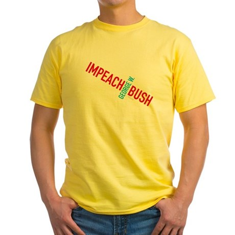 Impeach George W. Bush Yellow T-Shirt