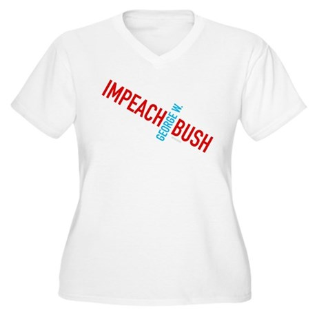 Impeach George W. Bush Womens Plus Size V-Neck T-