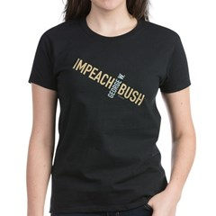Twisted Impeach Bush Womens Black Tee