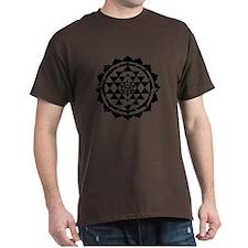 Yantra Mandala T-shirt - black print