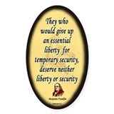 Ben Franklin - Essential Liberty Oval Decal