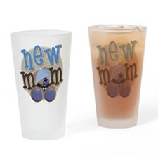 New Mom Teddy Drinking Glass
