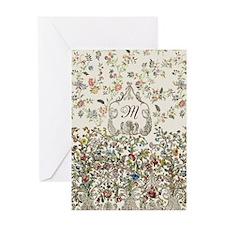 Customizable Rococo Monogram Greeting Card