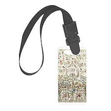 Customizable Rococo Monogram Luggage Tag