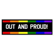 Out and Proud Bumper Bumper Sticker