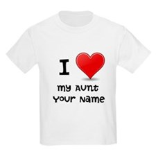 I Heart My Aunt (Custom) T-Shirt