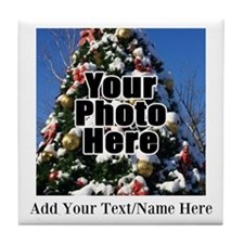 Custom Personalized Color Photo and Text Tile Coas
