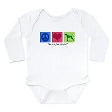 Cute Hungarian vizsla lover Long Sleeve Infant Bodysuit