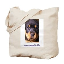Rottweiller - Love Wrapped In Tote Bag