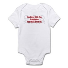 Mess With Staby Infant Bodysuit