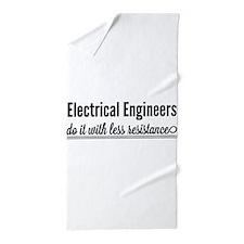 Electrical engineers resistance Beach Towel