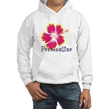 Personalize hibiscus Flower Hoodie