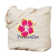 Personalize hibiscus Flower Tote Bag