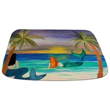 Coastal Mermaids Art Bathmat Rug