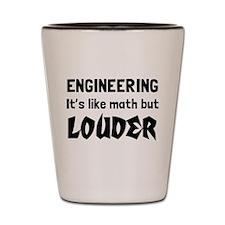 Engineering math but louder Shot Glass
