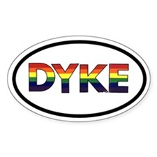 Dyke Oval Decal