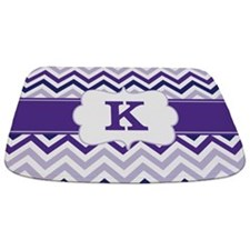 Purple Chevron Monogram Bathmat