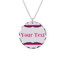 Personalizable Hot Pink and White Necklace