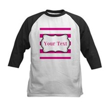 Personalizable Hot Pink and White Baseball Jersey