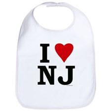 """I LOVE NJ"" Bib"