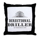 Dir. Driller Throw Pillow