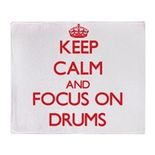 Funny Keep calm and play drums Throw Blanket