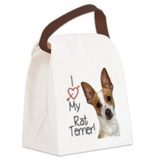 I Love My Rat Terrier! Canvas Lunch Bag
