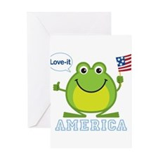 FinalFrogAmerica Greeting Cards